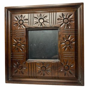 Boho Flower Square Wood Picture Frame